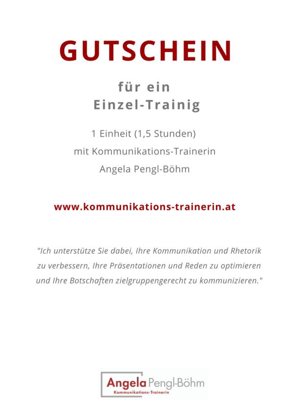 Gutschein für ein Einzel-Training